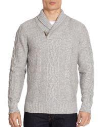 Saks Fifth Avenue Black Label - Cashmere Shawl Collar Sweater - Lyst