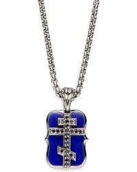 Stephen Webster - Lapis Black Sapphire Sterling Silver Russian Cross Necklace - Lyst