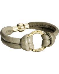 Tokyo Jane - Leather Logo Bracelet - Lyst