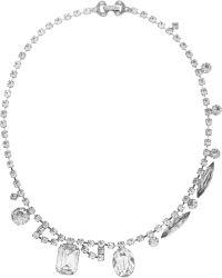 Tom Binns - Madame Dumont Rhodiumplated Swarovski Crystal Necklace - Lyst