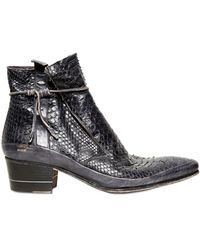 Tom Rebl - 50mm Python Ankle Boots - Lyst
