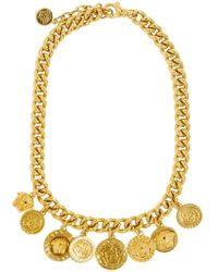 Versace Medusa Gold Plated Metal Chain Necklace - Lyst