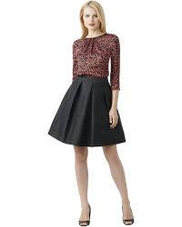 Adrianna Papell Pleated Taffeta A Line Skirt Black Lyst