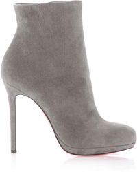 Christian Louboutin Bootylili 120mm Suede Ankle Boots - Lyst