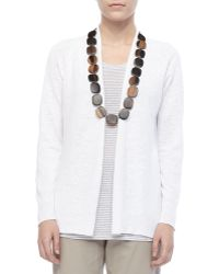 Eileen Fisher Linen Knit Cardigan - Lyst