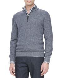 Ermenegildo Zegna Quarterzip Pullover Sweater - Lyst