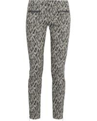 Matthew Williamson Printed Stretch Cotton Blend Skinny Pants - Lyst