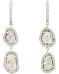 Monique Pean Atelier - Diamond White Gold Twotier Drop Earrings - Lyst