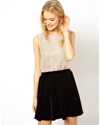 Asos Vest With Sequin Crochet Panelling - Lyst