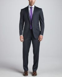 Ermenegildo Zegna Thick Woven Two Button Suit - Lyst