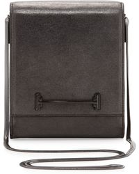 Halston Heritage Small Box Shoulder Bag Charcoal - Lyst