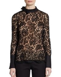 Jill Stuart Lace Top - Lyst