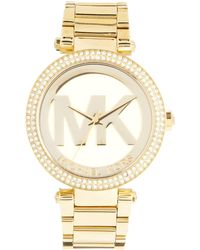 Michael Kors Parker Gold Watch - Lyst