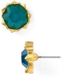 Sam Edelman - Small Set Stone Stud Earrings - Lyst