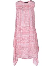 Antik Batik Pink Kneelength Dress - Lyst