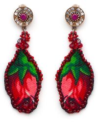Masterpeace | Vintage Wool Jade Rosebud Earrings | Lyst