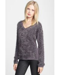 Trouvé Trouvé Embellished Textured V Neck Sweater - Lyst