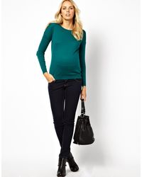 Asos Maternity Jumper with Heart Elbow Patch - Lyst