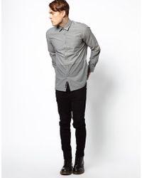 Diesel Shirt Sausan Tonal Stripe and Check - Lyst