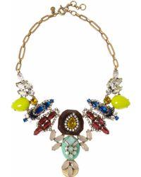 J.Crew | Goldtone Crystal Necklace | Lyst