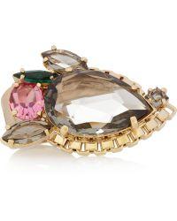 Mawi Goldplated Swarovski Crystal Ring - Lyst