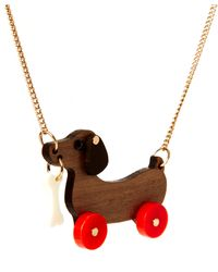 Tatty Devine - Dog On Wheels Necklace - Lyst