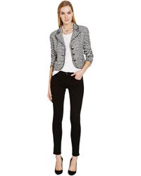 Chanel Chanel Black and White Boucle Jacket From What Goes Around Comes Around - Lyst