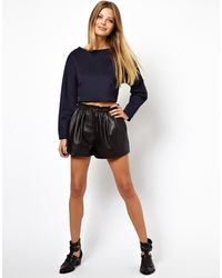 Asos Premium Crop Top with Ovoid Sleeve - Lyst