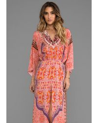Camilla Portable Paradises Split Pocket Dress in Orange - Lyst