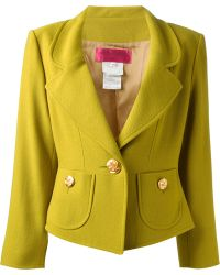 Christian Lacroix Single-Breasted Wool Jacket - Lyst
