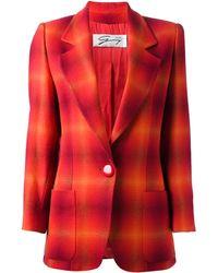 Versace Red Tartan Jacket - Lyst