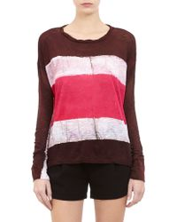 Gilda Midani - Tiedye Colorblock Tee Shirt - Lyst