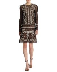 Jill Stuart | Janet Studded Mesh Cotton Dress | Lyst