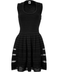 M Missoni Patterned Knit Fit and Flare Dress - Lyst