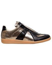 Maison Margiela Metallic Leather Sneakers - Lyst