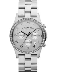Marc By Marc Jacobs Henry Glitz Stainless Steel Chronograph Bracelet Watch - Lyst
