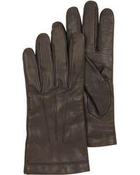 Moreschi - Dark Brown Leather Mens Gloves Wcashmere Lining - Lyst