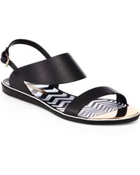 Nicholas Kirkwood Zigzag Leather Sandals - Lyst