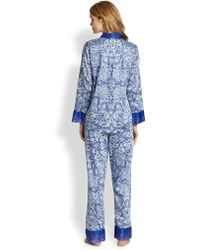 Oscar de la Renta - Paisley Pyjamas - Lyst