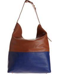 Barneys New York Colorblock Hobo Bag - Lyst