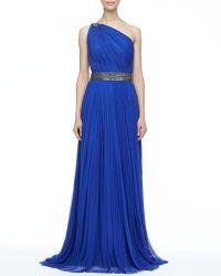 Catherine Deane Oksana Pleated Long Gown - Lyst