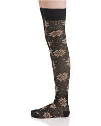 Free People Snow-flake Thigh-high Socks - Lyst