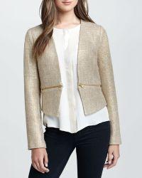 Greylin - Zipwaist Tweed Jacket - Lyst