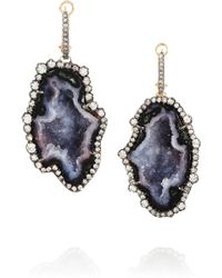 Kimberly Mcdonald - 18karat Rose Gold Geode and Diamond Earrings - Lyst
