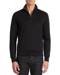 Saks Fifth Avenue Black Label - Ice Cotton Quarter Zip Pullover - Lyst