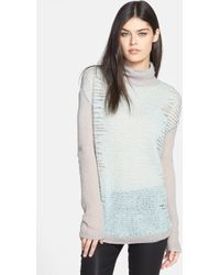 Trouvé Trouvé Turtleneck Mixed Knit Sweater - Lyst