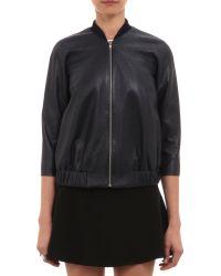 Wayne - Perforated Leather Jacket - Lyst