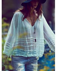Free People Fp One Tie That Binds Blouse - Lyst