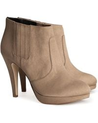 H&M Brown Boots - Lyst