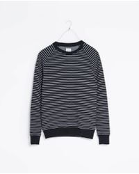 Zara Striped Quilted Sweatshirt - Lyst
